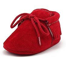 OOSAKU Zapatos Recién Nacidos Infantiles de Bebés, Mocasines con Cordones de Suela Suave, Zapatos