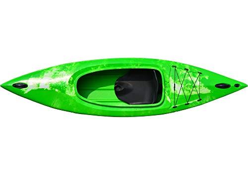 Kaitts Kajak Thunder Wanderkajak Freizeitkajak Angelboot Kanu Tourenkajak Paddelboot, Farbe:Rot-Gelb-Marmoriert