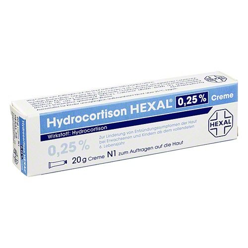 Hydrocortison Hexal 0,25 % Creme, 20 g