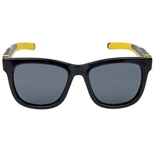 Duco Kinder Sonnenbrille Polarisierte Sportbrille TPEE Flexibeles Gestell für Jungs und Mädchen K009