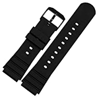 25mmx21mm Rubber watch strap band Black Buckle made for 3901/3001/3000 DPB NAVY SEALS