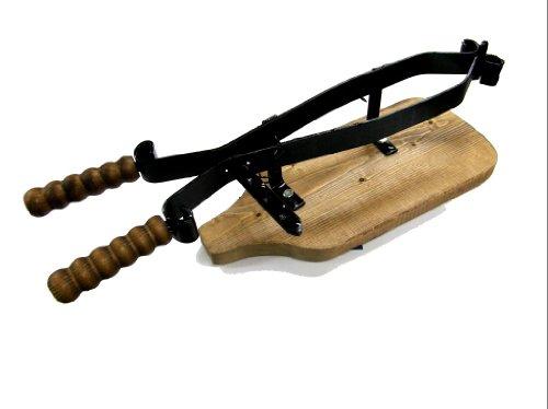 Trader 66834 -ferma porta prosciutto in legno e ferro battuto