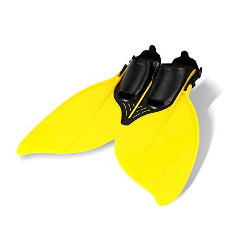 (yosoo Fishtail Monofin Flossen, Schwimmen Spielzeug Trainingsgerät Gelb gelb)