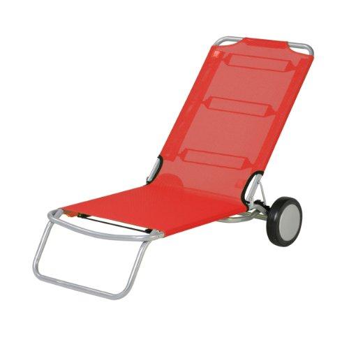 Wheely Strandstuhl rot