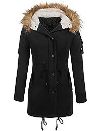 Parabler Damen Softshelljacke Leichte Jacke Übergangsjacke Winterjacke  Outdoor Winddichte Jacke mit Hoher Kragen und Kapuze aus 8468f1f87c