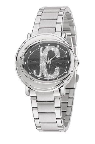 Just Cavalli R7253186525 - Reloj analógico de mujer de cuarzo con correa de acero inoxidable plateada