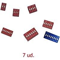 Juego de 7 Interruptores DIP PCB DE 8,7,6,5,4,3,2 VIAS CIRCUITOS