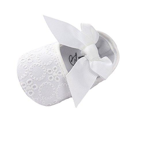 Matt Keely Baby Mädchen Bowknot Taufe Schuhe Prewalker Weiß 6-12 Monate