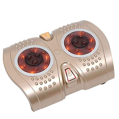 ZCM Fussmassage, tief knetend Beruhigend mit Hitze Entspannen Sie Sich Fuß-Hitze-Funktions-Erschütterungs-erleichternde schmerzende Massage-Maschine JH-ZL2 (Farbe : Champagner)