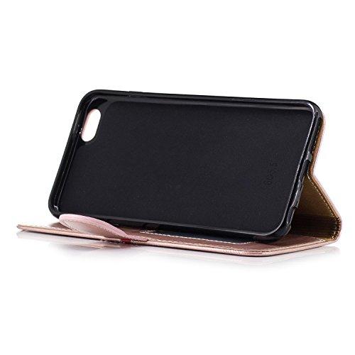 Cover iPhone 6S Plus, Cover iPhone 6S Plus, Custodia iPhone 6 Plus/iPhone 6S Plus, ikasus® iPhone 6 Plus/iPhone 6S Plus Elegante semplice Custodia Cover [PU Leather] [Shock-Absorption] Cover Custodia  Rosa