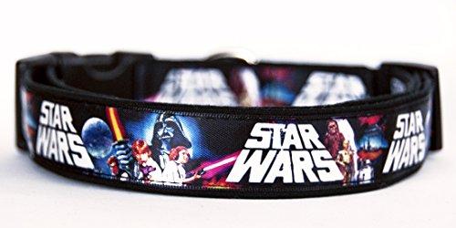 Star Wars Handgemachte Hundehalsband HandMade Dog Collar Größe (Star Dog Wars)