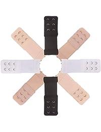 47543e5e0401 BH Verlängerung Verschluss Bra Extender Strap Elastisch Band Weich Gurt  Erweiterung 3 Reihen 2 Haken und 3 Haken…