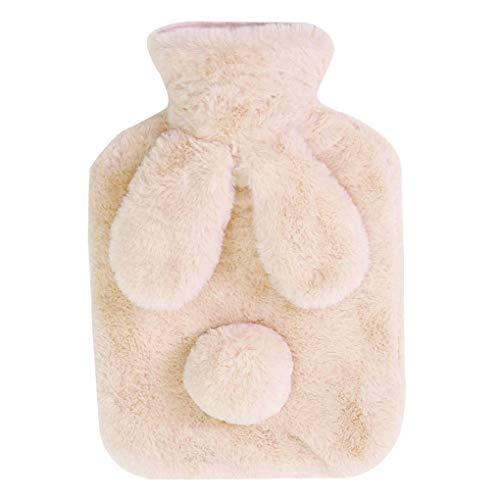 Mengonee Entzückende Heißwasser-PVC-Flasche Hand Füße warm zu halten Plüsch Wärmetasche Geburtstag Feiertags-Winter-Geschenk -