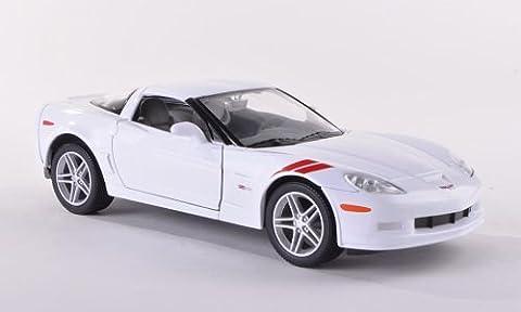 Chevrolet Corvette Z06 (C6), weiss , 2007, Modellauto, Fertigmodell, Yat Ming 1:24