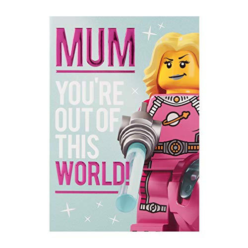 """Hallmark Lego Muttertagskarte \""""Out Of This Galaxy\"""" - mittelgroß"""