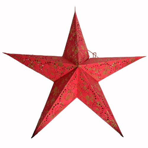 Stella Di Carta Natale.Brubaker Stella Di Carta Pieghevole Stella Di Natale Con Floralem