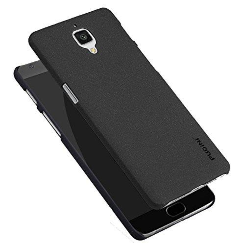 Tarkan QuickSand Matte Slim Hard PC Bumper Back Case Cover For OnePlus 3 / OnePlus Three [Sandstone Black]