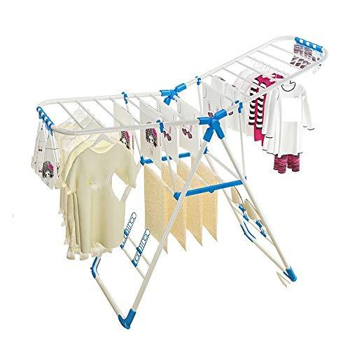 DAHAI Balkon trocknen lüfter Faltbare innen kleiderständer Kunststoff flügel blau rosa Regal geeignet für babywindel kleiderständer (Color : B) (Kranz Kunststoff-lagerung)