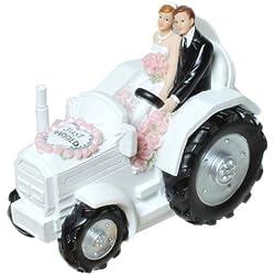 """1 Spardose """" Brautpaar auf Traktor """"GESCHENKE HOCHZEIT Geldgeschenke DEKO"""