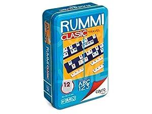 Cayro-755 Rummi Viaje en Caja Metal 12x19cm, Multicolor (755)