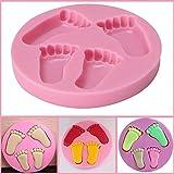 Queta Handgemachte Seife Form Fuß Kuchen Form Silikon Kuchen Form für Babyparty Geburtstag Party Kuchen Dekoration
