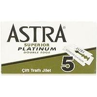 Astra Lames de rasoir double face en platine - lot de 100 - Fabriquees par Gillette P & G