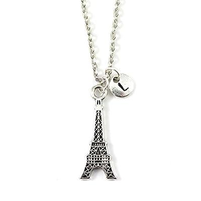 Collier TOUR EIFFEL personnalisé   Collier I Love Paris   Bijou à initiale   Bijou pierre de naissance   Cadeau personnalisé   Bijou personnalisé