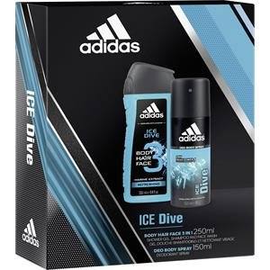 adidas Herrendüfte Ice Dive Geschenkset Shower Gel 250 ml + Deodorant Body Spray 150 ml 1 Stk.