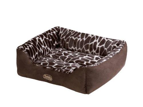 "Nobby 70846 Komfortbett für Hunde ""KETO"" L x B x H: 55 x 50 x 19 cm, braun"