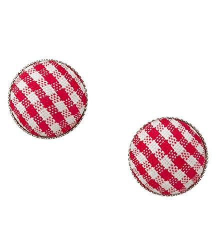 """SIX""""Oktoberfest"""" karrierte Ohrringe Damen Ohrstecker aus Stoff mit rot-weißem Vichy-Karo..."""