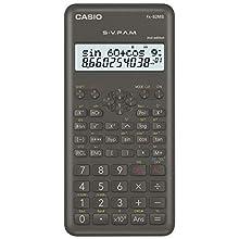 Casio FX-82MS-2 Calculatrice scientifique alimentation par pile, gris