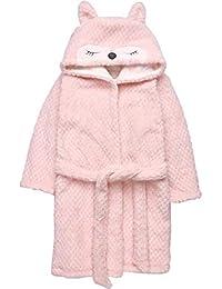 99f4e51d3b76f2 Bwiv Bademantel Kinder Weich Warm für Jungen Mädchen Morgenmantel  Doppelseitig mit Tier Kapuze Unisex Zweistöckig Pyjamas