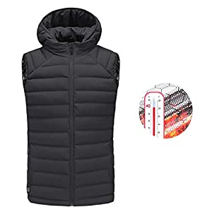 41REVV7bflL. SS300  - OUTANY Men's Rechargeable Heated Vest Windproof USB,Winter Outdoor Sport Warm Insulated Vest