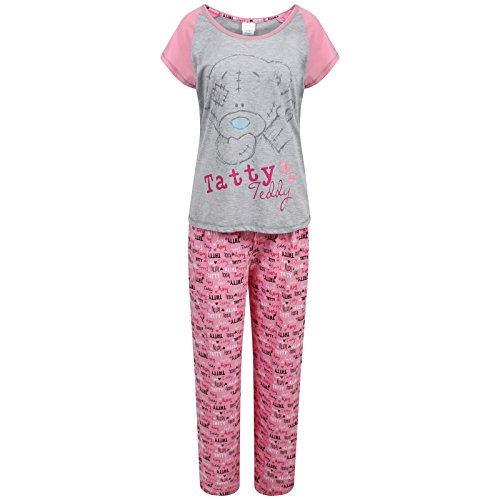 Damen-Schlafanzug-Große-Frozen Disney-Minnie-Mouse-Mickey Mouse Dalmatians Snow White Winnie-Tatty-Teddy-Little Mermaid Snow White-Bambi-Größen: 22, (UK 8) Mehrfarbig - Tatty Teddy