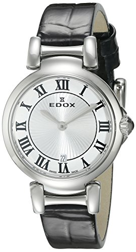 Edox Women's 57002 3C AR LaPassion Analog Display Swiss Quartz Black Watch