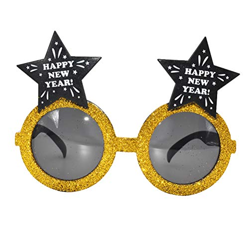 Zubehör Party Silvester Kostüm - Amosfun Silvester Sonnenbrille Neuheit Brille Party Zubehör Spaß Kostüm Zubehör Silvester Brille Party Favor Foto Requisiten