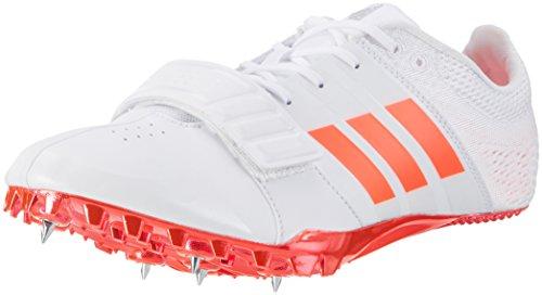 adidas Adizero Accelerator, Scarpe da Atletica Leggera Unisex - Adulto, Bianco (FTW White/Solar Red/Silver Metallic), 46 2/3 EU