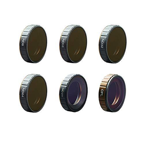 STARTRC OSMO Action Kamera Objektiv Filter, 6 Stück UV, CPL, ND8 ND16 ND32 ND64 für DJI OSMO Action Kamera Zubehör