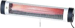 Semptec Urban Survival Technology Terrassen Heizung: IR-Heizstrahler mit Thermostat IRW-3000.RBL, rote Lampe, 3.000 W, IP24 (Infrarot Heizer)