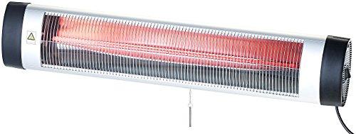 al Technology Infrarotstrahler: IR-Heizstrahler mit Thermostat IRW-3000.RBL, rote Lampe, 3.000 W, IP24 (Terrassenheizstrahler) ()