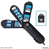 Aufbewahrungsgehäuse für Speicherkarten mit Micro SD Kartenleser (USB) - Im Schweizer Taschenmesser Design mit 3 Speicherplätzen - Kompatibel mit 3X SD und 8X Micro SD