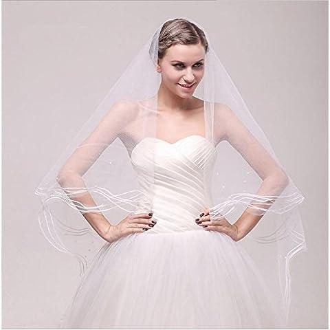 Joyería de la boda del cordón exquisito único blanco de marfil del velo de novia