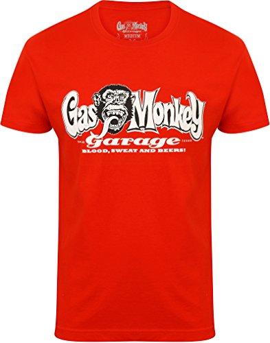 Gas Monkey Garage T-Shirt OG Logo, Farbe:red;Größe:XL