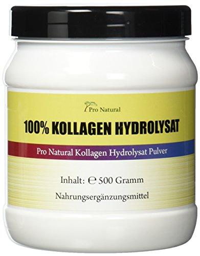Pro Natural Kollagen - Hydrolysat 500g Pulver Collagen für die Gelenke & Knorpel ( Collagen Protein Pulver )