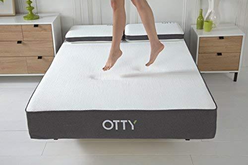 OTTY 2000 Pocket Spring, Memory Foam & Cool Blue Gel Combined Luxury Mattress (Double (135 x 190 x 25cm))