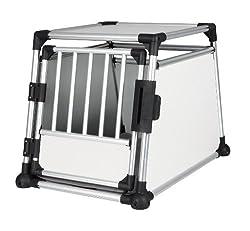 Trixie 39342 Transportbox, Aluminium, M-L: 63 × 65 × 90 cm, silber/hellgrau