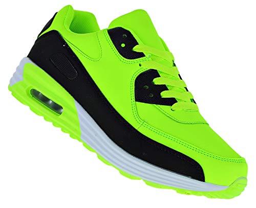 Bootsland Neon Turnschuhe Sneaker Sportschuhe Luftpolstersohle Herren 039, Schuhgröße:43, Farbe:Modell 3