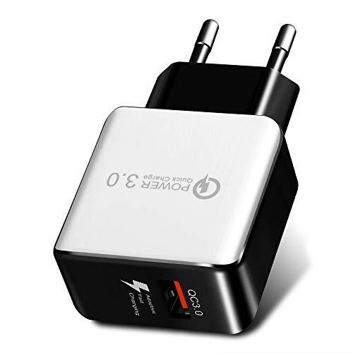 QC3.0 USB Ladegerät,5V /3.1A USB Netzteil,AC Schnelles Ladekopf,EU Stecker Wandladegerät für Smartphones, Samsung Galaxy, HTC,Huawei,Nexus, Nokia,iPhone (Weiß) Pda-smartphone-standard