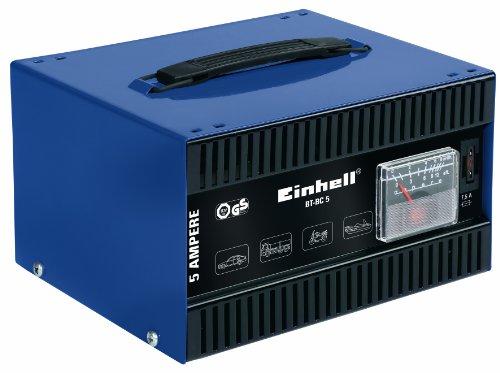 einhell batterie ladegeraet Einhell Kfz Batterieladegerät BT-BC 5 (für Bleiakkus von 16 bis 80 Ah, 12 V Ladespannung, eingebautes Amperemeter, Tragegriff)