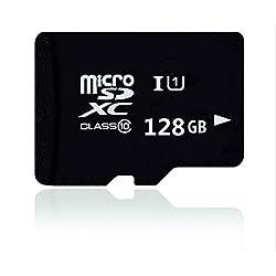 Memoria genérica de 128GB Tarjeta SD TF Clase 10 Tarjeta de memoria flash con adaptador SD para teléfonos móviles, Tablet PC, cámaras (128GB)